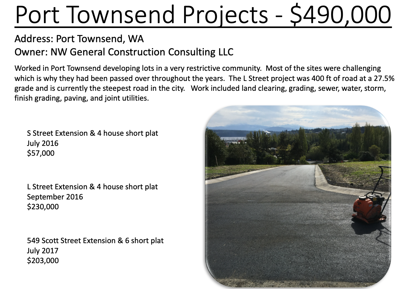 Port Townsend Project